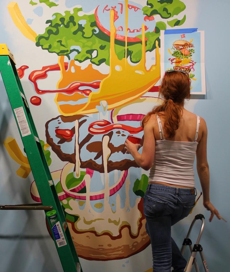 Jade Hamburger Mural