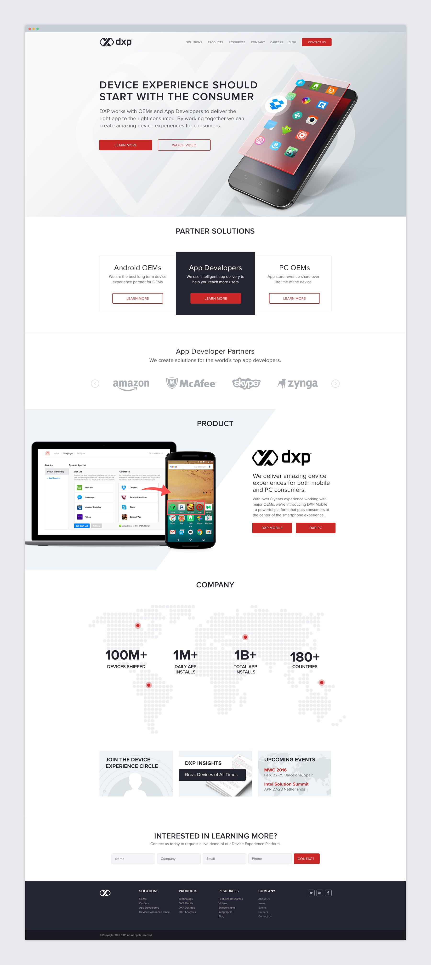 DXP Website Design