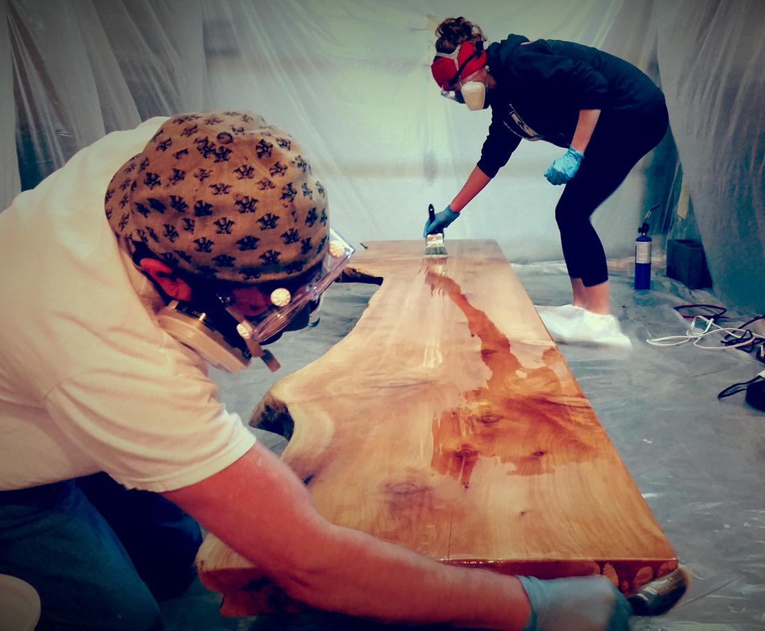Large Cedar Conference Table Progress
