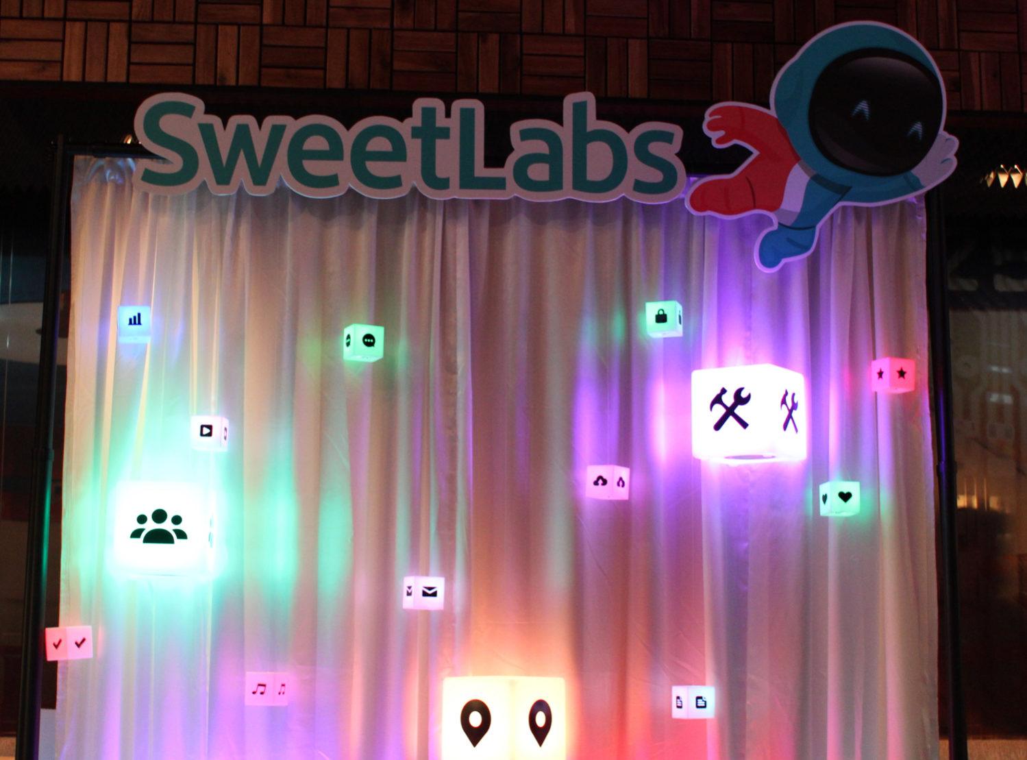 LED App Booth Back