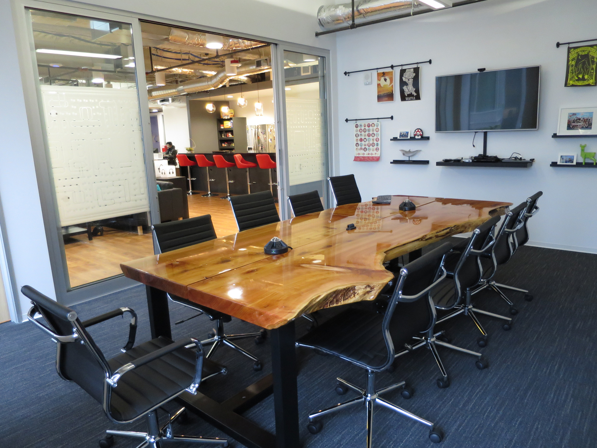 Large Cedar Conference Table with Live Edge