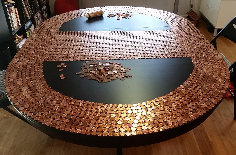 Speakeasy Penny Table Progress