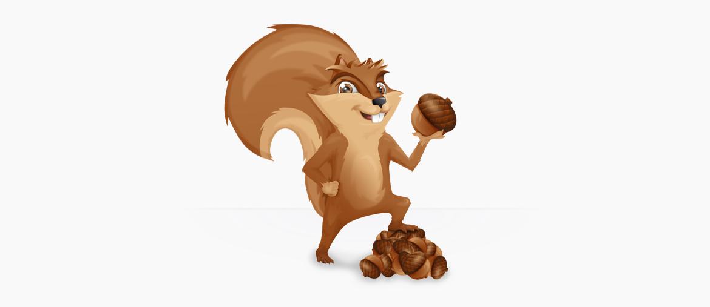 Squirrel Mascot Plain
