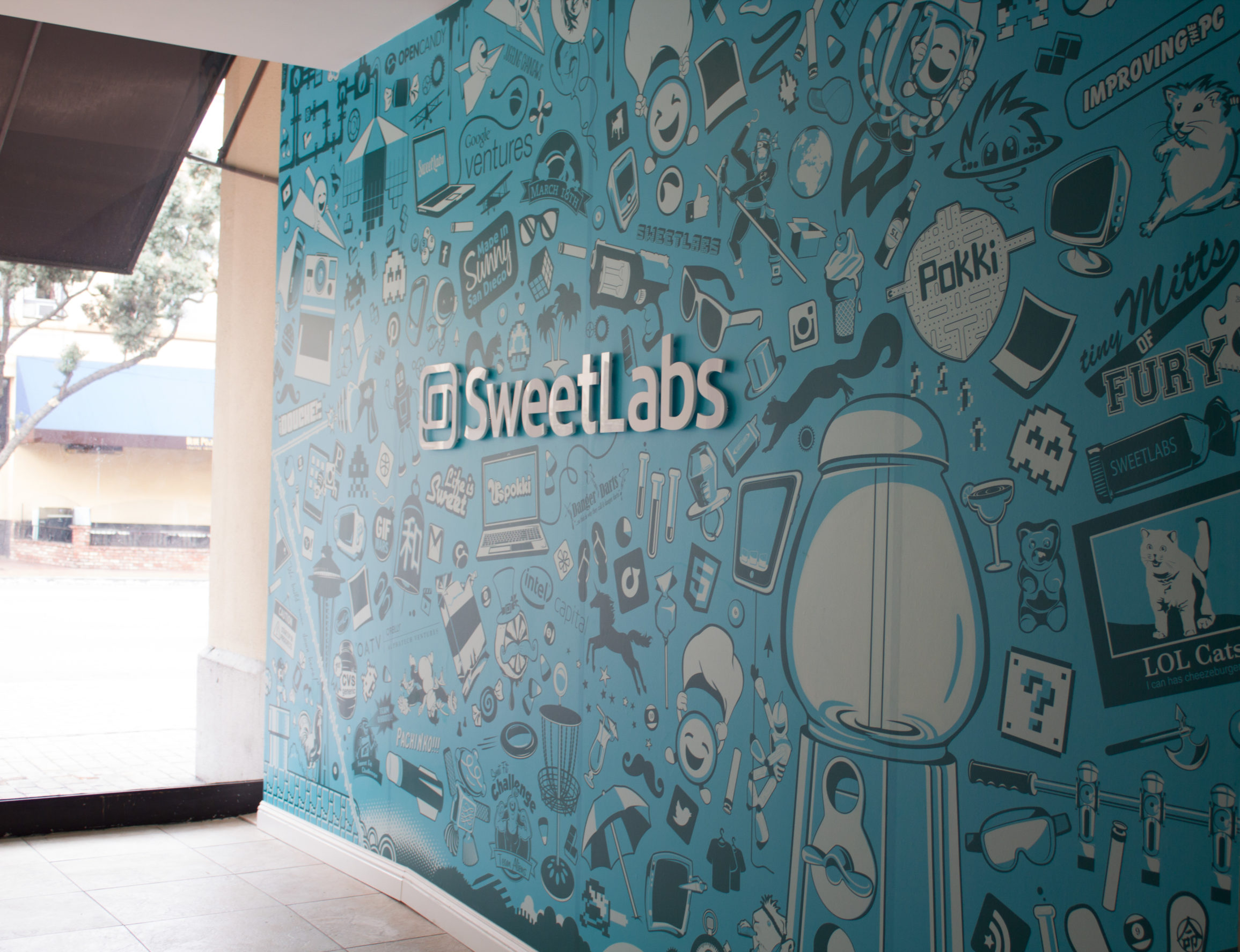 SweetLabs Collage Entrance Sign