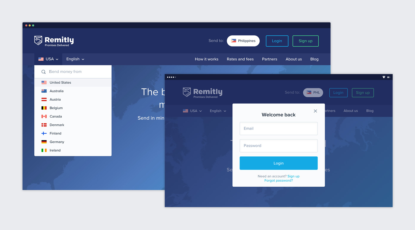 Remitly Website Main Nav