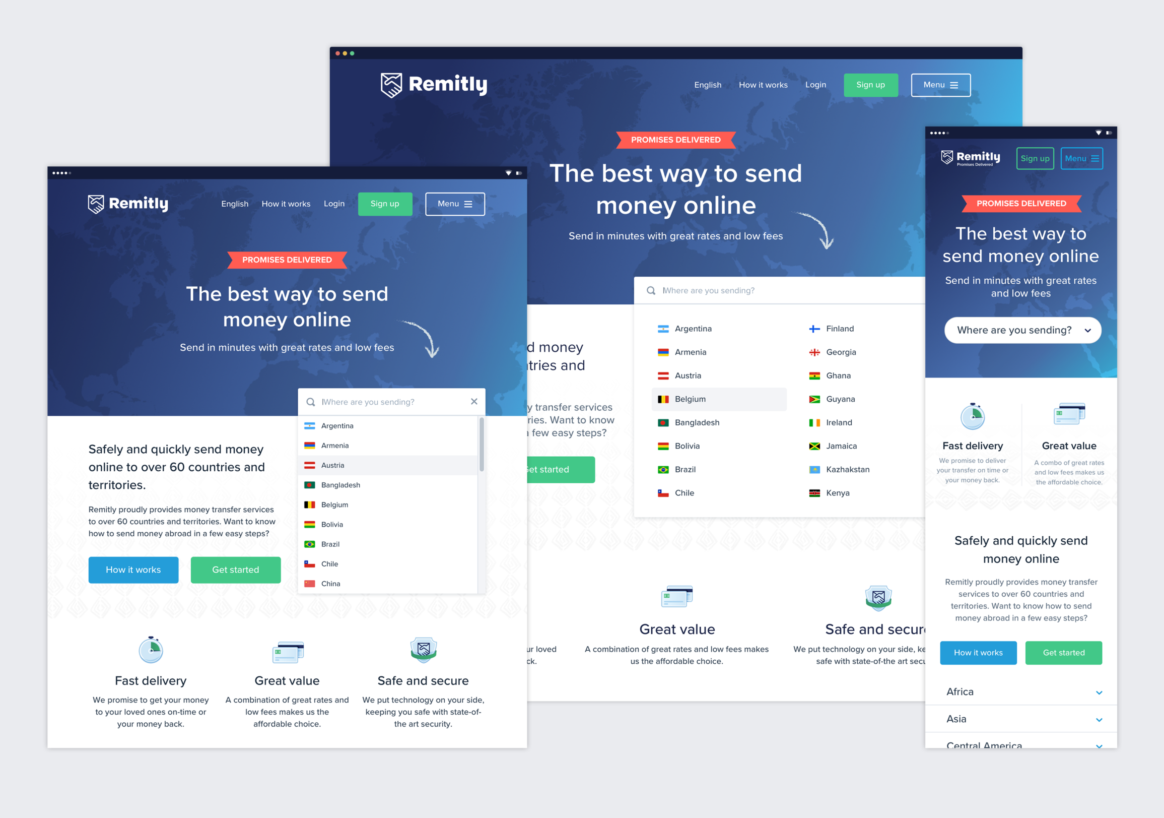 Remitly Website Global Homepage